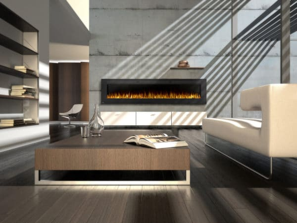 Wall Mount Electric Fireplace With Heater Allure 100 Form