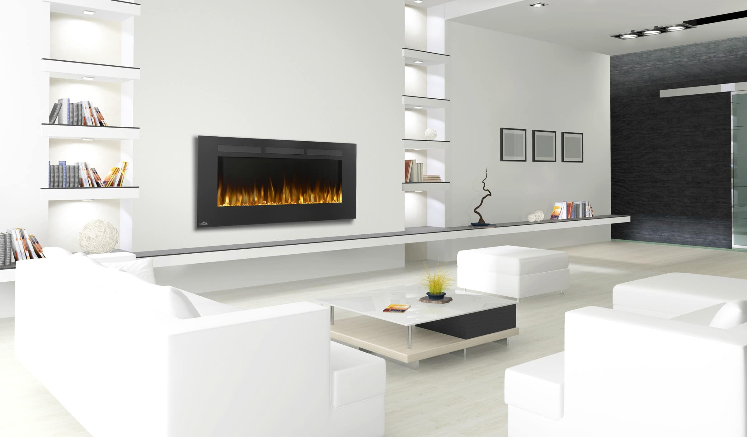 Wall Mount Electric Fireplace With Heater Allure 50 Form