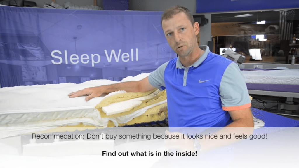 inside a mattress